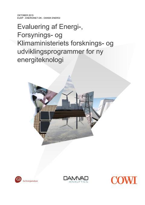 Evaluering af Energi-, Forsynings- og Klimaministeriets forsknings- og udviklingsprogrammer for ny energiteknologi