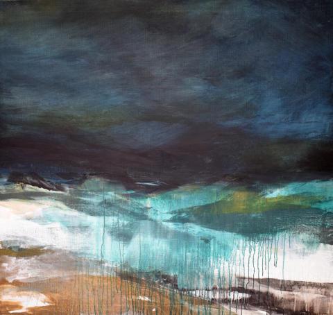 Målning av Carin Lundblad