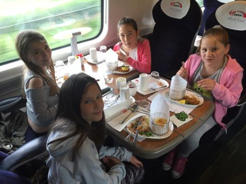 Virgin Trains helps bring 9-year-old Amelie's menu to life