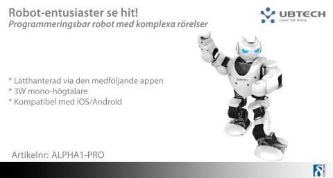 Ny revolutionerande programmerbar robot!