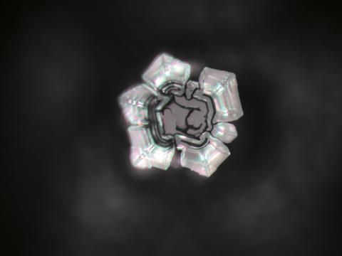 Sonnenquelle-Kristall nach Emoto