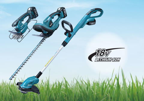 Tre nya 18V trädgårdsmaskiner