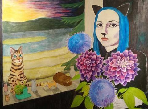 Mikaela Elfs måleri - en lek med slumpen