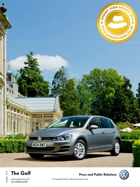 Volkswagen Golf named HonestJohn.co.uk Car of the Year for 2014