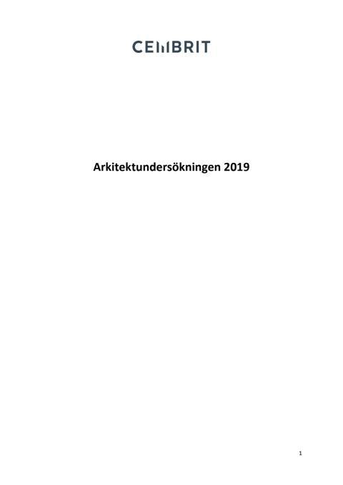 Arkitektundersökningen 2019