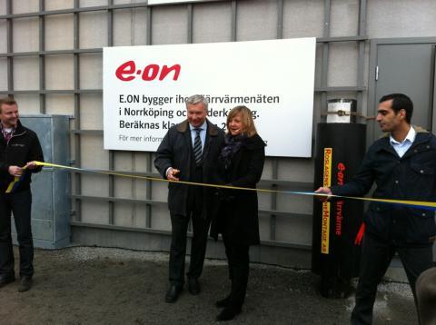 E.ONs nya regionala fjärrvärmenät mellan Norrköping  och Söderköping invigt