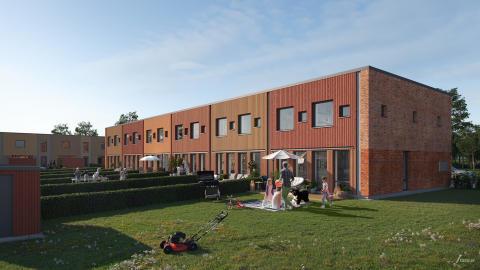 Stort intresse för nya radhus i Hököpinge inför säljstart