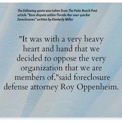 Rare dispute within Florida Bar over quickie foreclosures