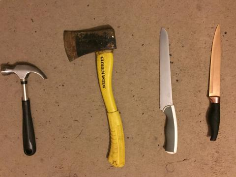 Weapons recovered during Newham raids