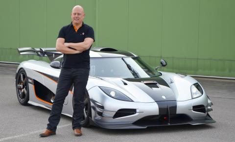 Christian von Koenigsegg and supercar One:1