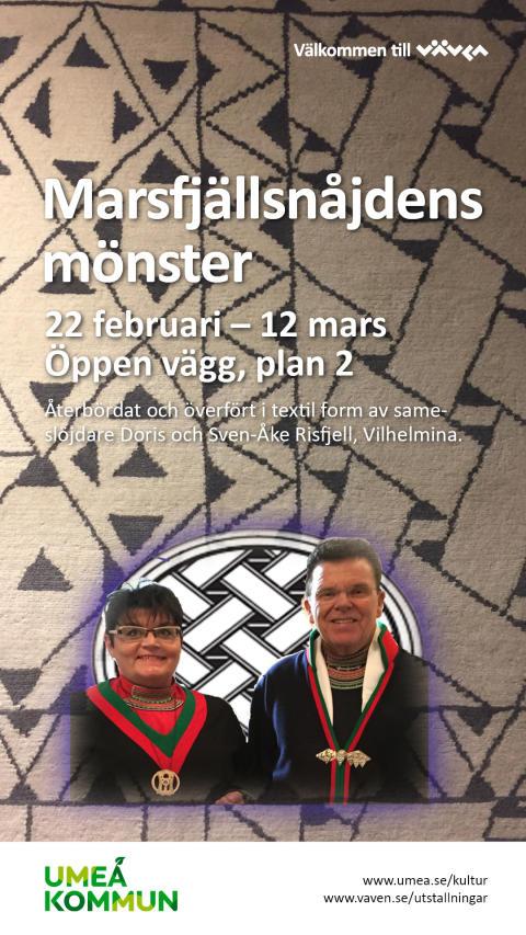 Affisch Marsnåjdfjällens mönster - Doris och Sven-Åke Risfjell