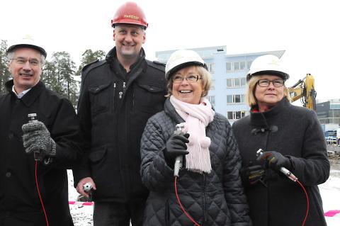 Idag hölls ett första spadtag för Polisutbildningens nya lokaler vid Södertörns högskola