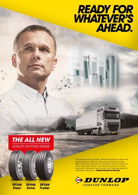 Dunlop tuo markkinoille uuden maantieajoon tarkoitetun kuorma-autonrenkaiden sarjan