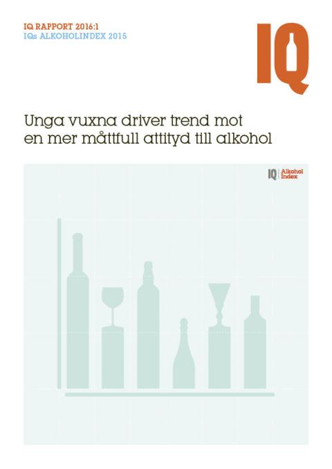Unga vuxna driver trend mot mer måttfull attityd till alkohol