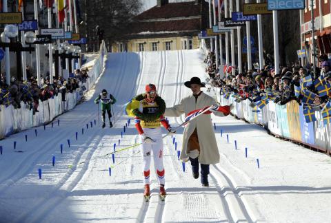 Vibeke Skofterud vann som första norska dam någonsin Vasaloppets damklass.