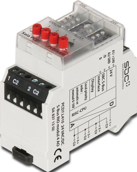 Analog RIO-modul PCD7.L410 för DIN-skena