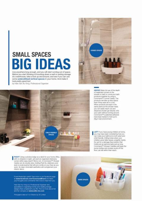 Edits Inc featured in 3M's ad in Home & Decor, Oct 2013 issue