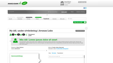 Avanza lanserar en helt kunddriven internetbank
