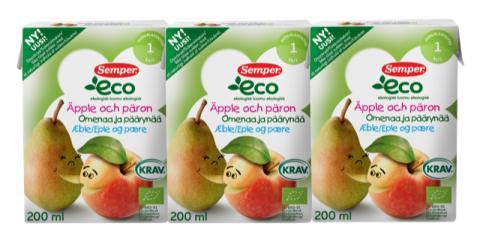 Semper återkallar Eco äpple & pärondryck