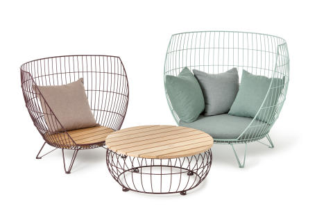 Basket furniture group, design Ola Gillgren