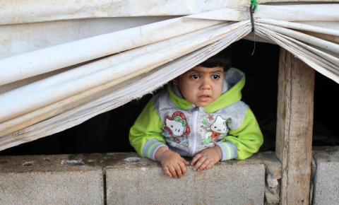 Matpaket till drabbade i Syrien