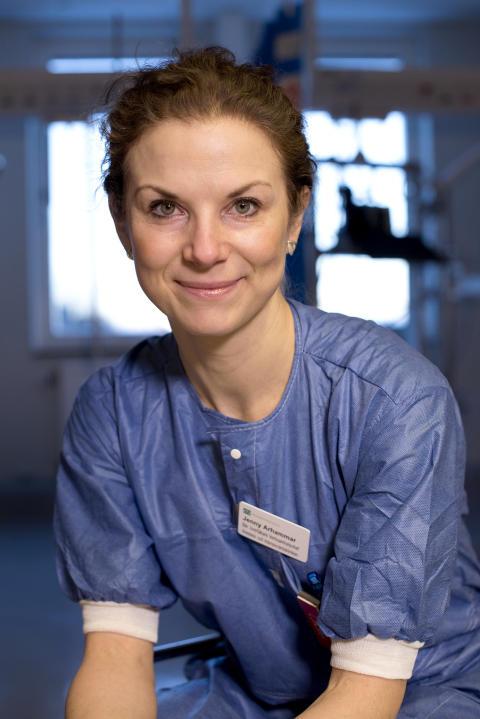 Jenny Bång Arhammar, verksamhetschef Anestesi/IVA-kliniken på Danderyds sjukhus.