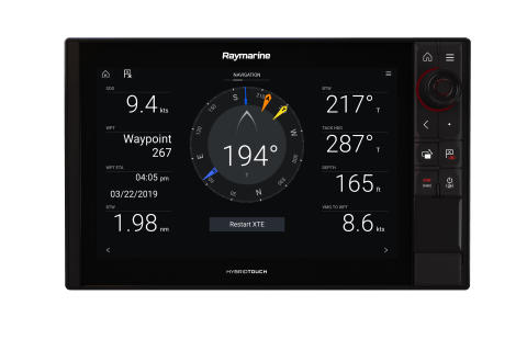 High res image - Raymarine - LH3.9 Navigation Dashboard