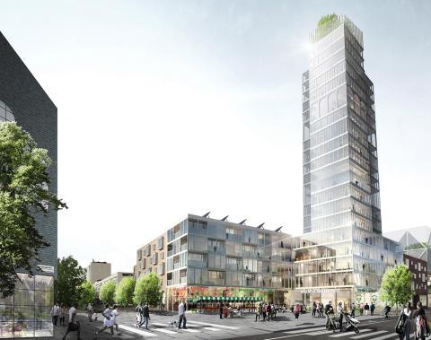 Intentionsavtal med Skanska möjliggör 500 nya bostäder i centrala Sollentuna