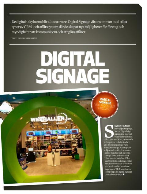 Läs om Q-channel´s kösystem q-cloud med digital signage i senaste numret av  IT BRANSCHEN.
