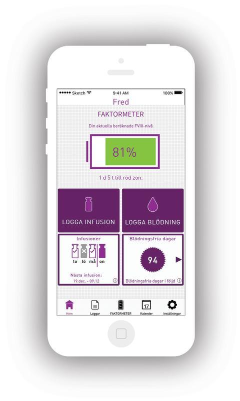 App hjälper patienter med blödarsjuka att undvika blödningar