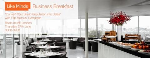 "REMINDER: ""Convert Your Brand Reputation into Sales"" #LikeMinds Business Breakfast tomorrow"