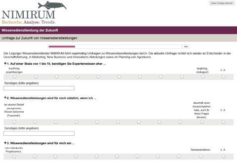 Die NIMIRUM-Umfrage: Wie sieht die Zukunft von Wissensdienstleistern aus?