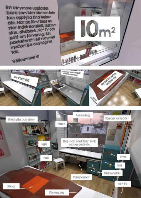 Funky rooms: 10 m² juryns pris i kategorin kök