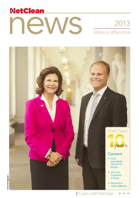 NetClean firar 10 år. Läs vårt nyhetsbrev med H.M. Drottning Silvia, INTERPOL, Ericsson, TeliaSonera. Trevlig läsning!