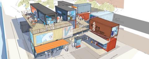 En flyttbar handelsplats ska fylla stadens mellanrum