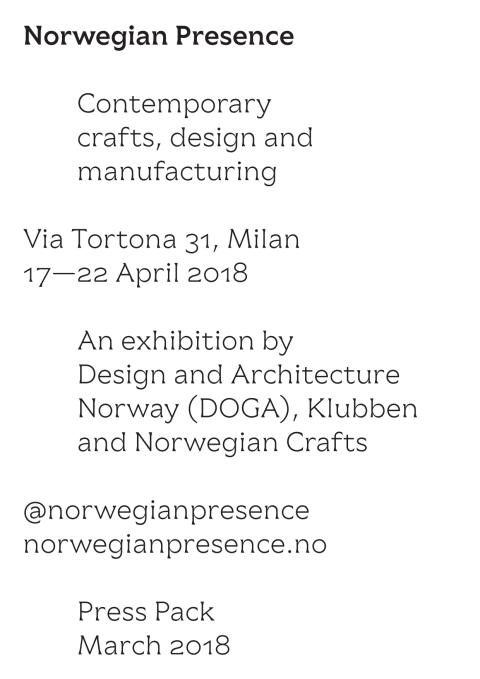 Pressepakke: Norwegian Presence 2018 (ENG)