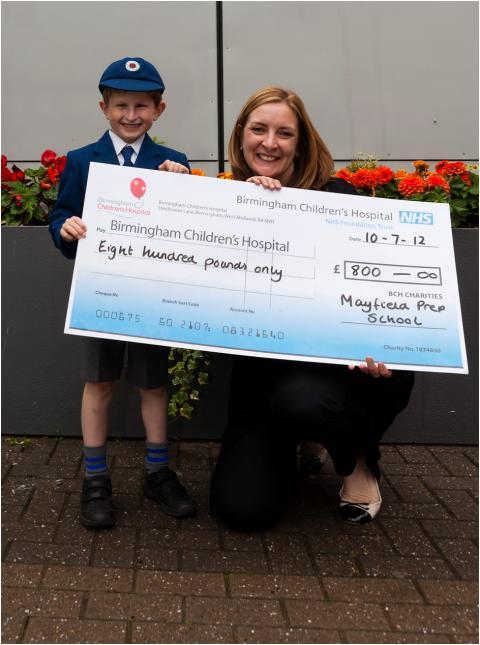 Walsall school raise £800 for Birmingham Children's Hospital