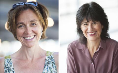 Composer Paula af Malmborg Ward and librettist Kerstin Perski.