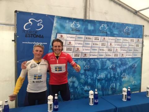 En fjärdeplats och två ledartröjor i Tour of Estonia