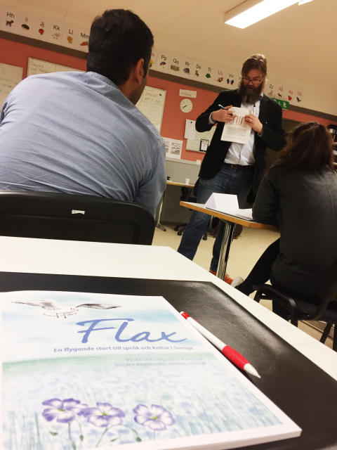 Språkundervisning för universitetsutbildade asylsökande