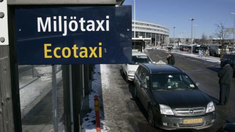 Antalet resor med miljötaxibilar på Arlanda fortsätter att öka