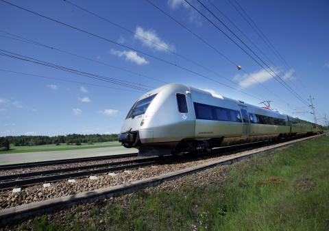 Jönköpingspremiär för det nya snabbtåget SJ 3000