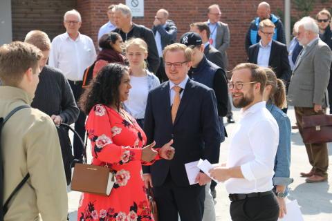 Åpning av nye uteområder på Kringsjå Studentby