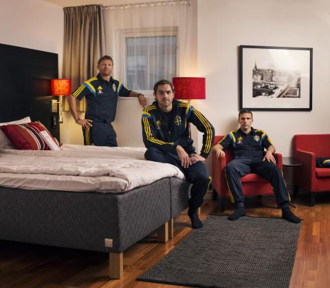 From left: Marcus Allbäck, Johan Elmander and Anders Svensson