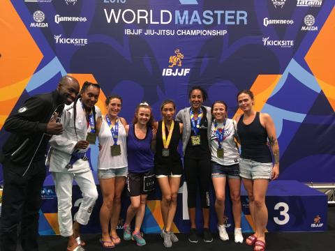 UK women athletes at 2018 IBJJF World Masters Championships