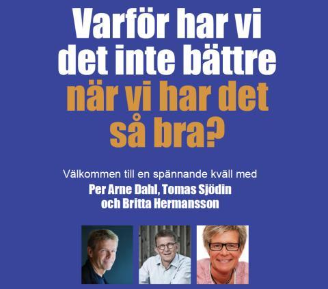 Föreläsningskväll med Per Arne Dahl, Tomas Sjödin & Britta Hermansson