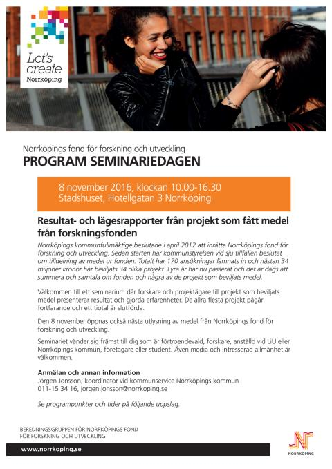 Program forskningsseminarium