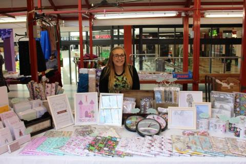 Up and coming designer Jessica Sammon has pitched up for Love Your Local Market fortnight