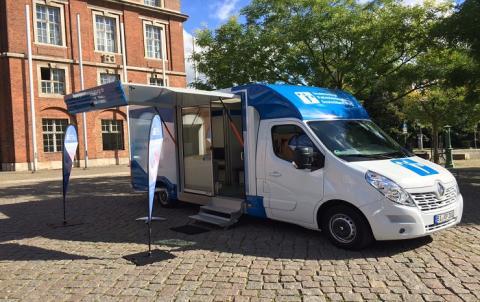 Beratungsmobil der Unabhängigen Patientenberatung kommt am 7. August nach Frankfurt (Oder).