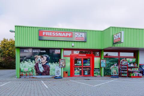 """Frontansicht des """"alten"""" Fressnapf-Marktes in Erkelenz 2019"""